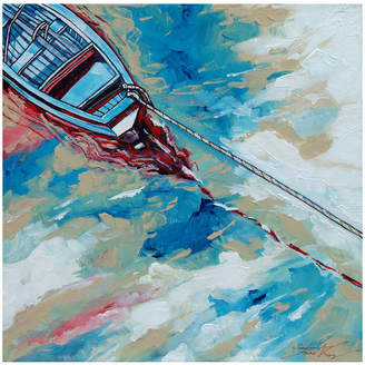 Stuart Roy Boat And A Rope Canvas Painting