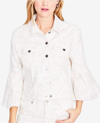 Rachel Roy Floral-Print Denim Jacket, Created for Macy's