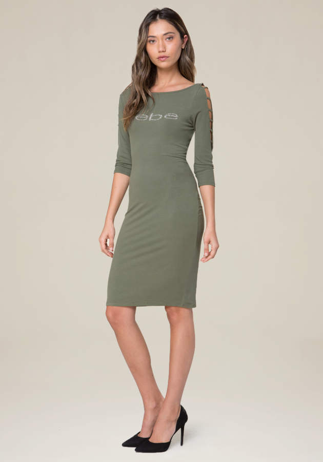 Logo Boatneck Dress