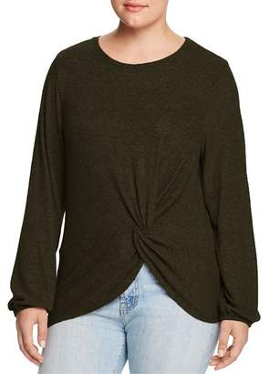 Bobeau B Collection by Curvy Twist-Front Top