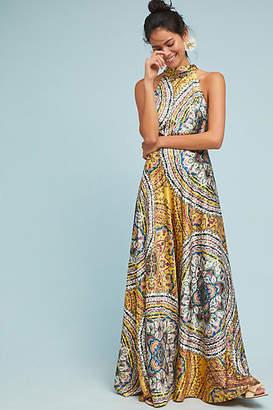 Nicole Miller New York Paisley Maxi Dress