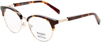 Balmain BL1081 Tortoiseshell-Look & Rose Gold-Tone Round Optical Frames