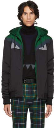 Fendi Reversible Green and Black Bag Bugs Jacket