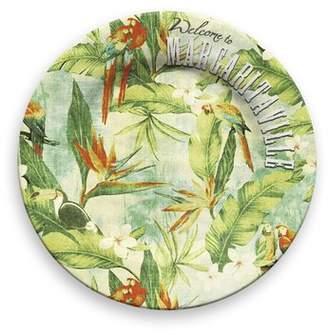 Margaritaville Vintage Tropical Melamine 10.5 Dinner Plate