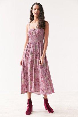 Kimchi Blue Gauzy Smocked Midi Dress $79 thestylecure.com