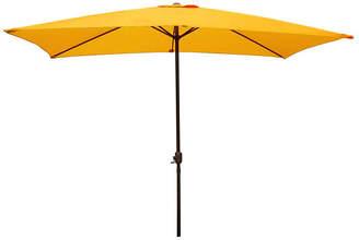Asstd National Brand 8.5' Outdoor Patio Market Umbrella with Hand Crank - Yellow