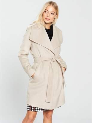 Wallis Waterfall Belted Coat - Blonde