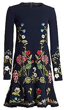 Oscar de la Renta Women's Botanical Garden Embroidered Shift Dress