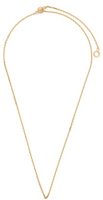 All Blues - Polished Gold Plated String Necklace - Mens - Gold