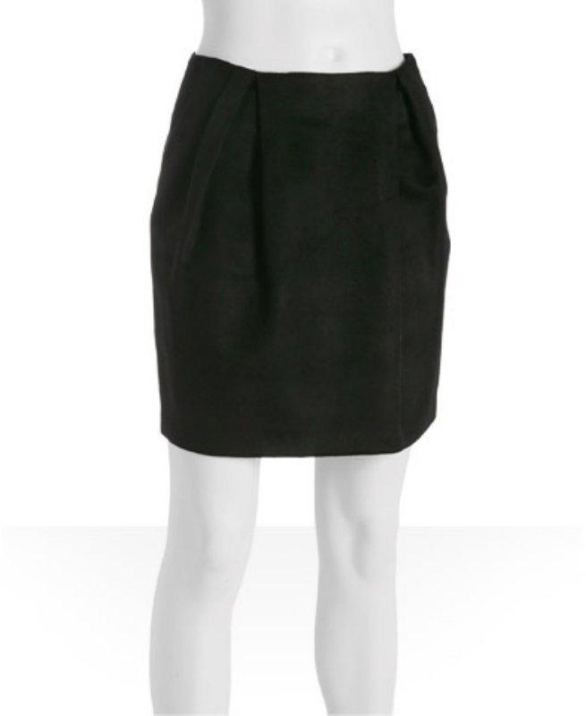 ADAM black pocket mini bubble skirt