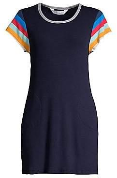 Splendid Women's X Gray Malin Lifegaurd Ribbed T-Shirt Dress