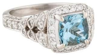 Penny Preville 18K Aquamarine & Diamond Cocktail Ring