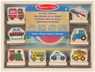 Melissa & Doug Vehicles My First Wooden Stamp Set