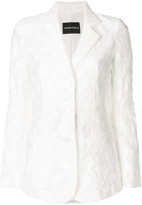 Emporio Armani lace appliqué blazer