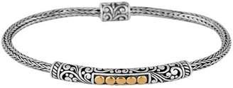DEVATA Sterling Silver & 18K Yellow Gold Dot Bali Heritage Slim Bracelet