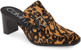 Calvin Klein Dacy Logo Buckle Loafer Mule