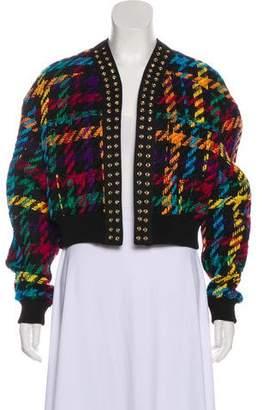Balmain Tweed Teddy Cropped Jacket w/ Tags