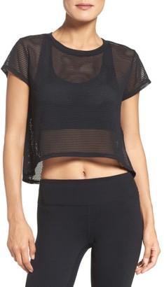 Women's Zella Meshin' Around Crop Tee $39 thestylecure.com