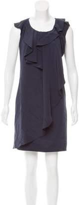 Oscar de la Renta Silk Ruffle-Trimmed Dress