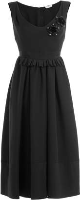Fendi Embellished Wool-Silk Cocktail Dress