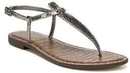 Sam Edelman Gigi Embossed Leather Thong Sandals