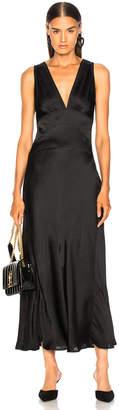 ALEXACHUNG Bias Evening Slip Dress in Black | FWRD