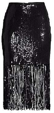 Nanette Lepore Women's Parade Sequin Fringe Skirt