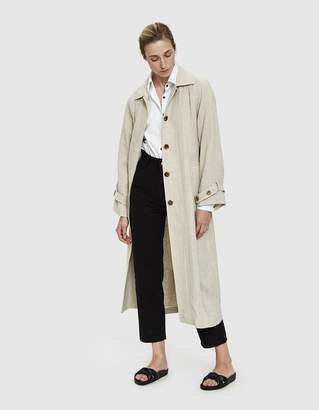 Amomento Linen Trench Coat
