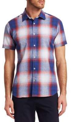 Saks Fifth Avenue MODERN Plaid Woven Button-Down Shirt