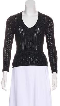 Christian Lacroix Beaded Knit Sweater