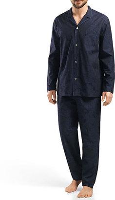 Hanro Raffael Patterned Jacquard Pajamas $285 thestylecure.com