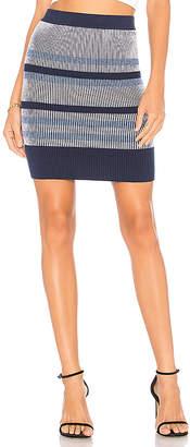 BCBGeneration Plaited Striped Skirt
