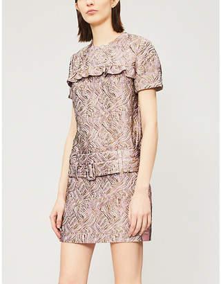 Prada Metallic cloqué skirt