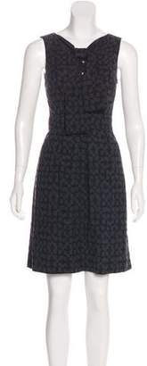 Trina Turk Printed Tie-Neck Dress w/ Tags