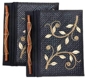 Dancing Leaves Pandanus journals (Set of 2)