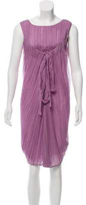 Alberta Ferretti Silk Chiffon Midi Dress