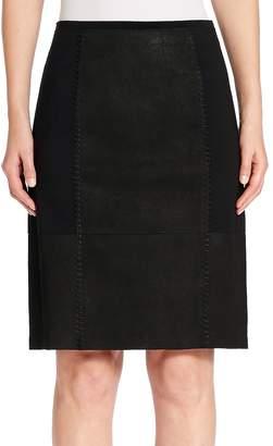 Elie Tahari Women's Leary Leather Paneled Skirt