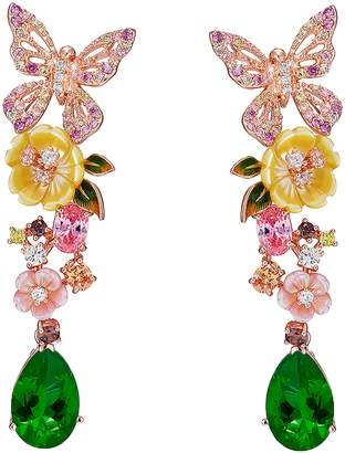 Anabela Chan Emerald Vine Earrings