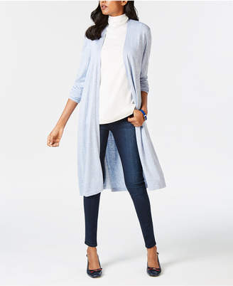 Charter Club Petite Open-Front Duster Cardigan