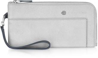 Piquadro Vibe - Zip Around Leather Wallet Clutch