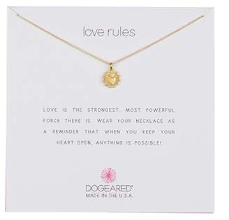 Dogeared Love Rules Charm Necklace