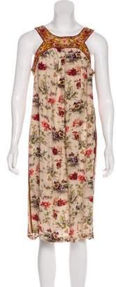 Jean Paul Gaultier Sleeveless Floral Dress
