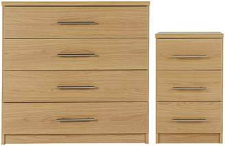 Argos Home Normandy Bedside & 4 Drawer Package