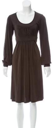 Michael Kors Long Sleeve Knee-Length Dress