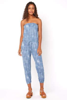 Juniper Blu Strapless Printed Jumpsuit