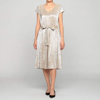 Maison Pere Silver Pleats Dress