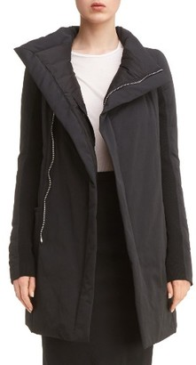 Women's Rick Owens Fitted Down Coat $2,465 thestylecure.com