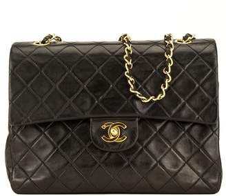 Chanel Black Quilted Lambskin Leather 2.55 Double Flap Bag (7000264)