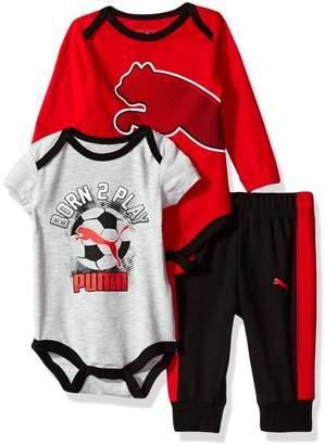 Puma Baby Boy's Boys' Three Piece Set Pants, Black, 6-9M