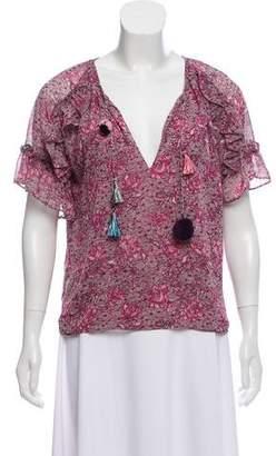 MISA Los Angeles Printed Short Sleeve Top